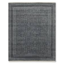 chandelier hand knotted rug this soothing blue rug would be the perfect anchor for a living room or bedroom