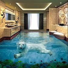 Sandstein oder marmor besitzen eine hohe wasseraufnahmefähigkeit. Eisbar Unterwasserwelt 3d Stereo Badezimmer Boden Grosse Benutzerdefinierte Wasserdichte Tapete 350 245 Cm Amazon De Baumarkt