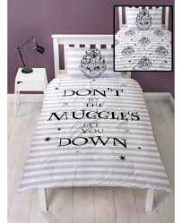 harry potter spell single reversible duvet cover set