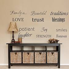 luckkyy family wall decal set of 12 family words quote vinyl family wall decal family room art decoration living room decor decoration for home decor on wall art words with word wall art amazon