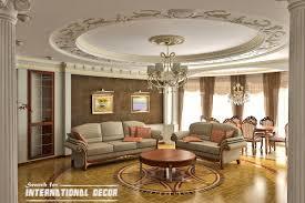 Interior, Fancy Bright Hall With Deluxe Classy Sofa Design Ideas Plus  Excellent Round Drop Ceiling Artwork Curved Design ~ Elegant Classic  Interior Design ...