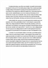 argumentative essay high school graduates should take a year off image of page 2