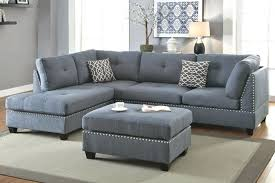 fresh 3 pc sectional sofa or 3 piece sectional sofa with ottoman blue grey color 19