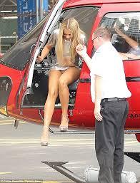 Teen blonde exposing her panties