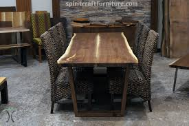 Design Gallery Live Walnut Live Edge Dining Table With Trends Black Kitchen Picture