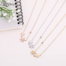 Wholesale <b>My Shape Stainless Steel</b> Crystal Snow Necklace White ...