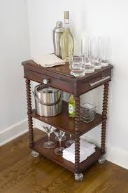 Diy repurposed furniture Upcycling Diy Bar Cart Repurposed From Thirfted Occasional Table The Home Depot Blog Diy Bar Cart Repurposed From Thrifted Occasional Table