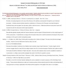 Annotated Bibliography Example Apa Template Azserver Info