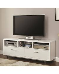coaster entertainment units low tv console with metal base
