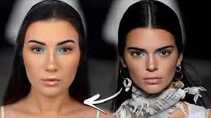 turning myself into kendall jenner recreating kendall jenner milan eye look makeup tutorial milan video milan informer