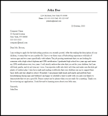 Professional Babysitting Cover Letter Sample Writing Guide