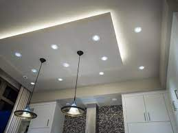 put recessed lights in the ceiling