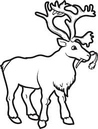 Small Picture Free Printable Reindeer Coloring Page for Kids 2