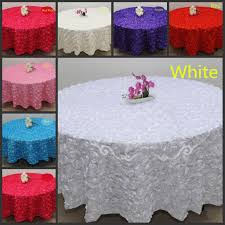blush pink 3d rose flowers table cloth for wedding party decorations cake tablecloth round rectangle table decor runner skirts carpet 120 inch round