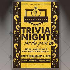 trivia night flyer templates trivia night premium flyer psd template psdmarket