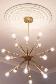mid century modern round sputnik chandelier by lucentlight