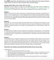 1 Page Essay Format Select One Question Below And Submit Them In An Es