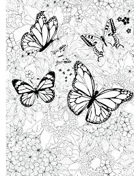 Printable Coloring Pages Of Flowers And Butterflies Coloring Pages Of Butterflies To Print Seatdreams Co