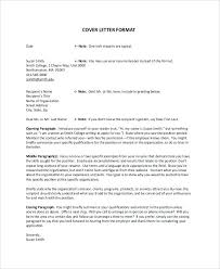 Mock Cover Letter For Resume Sample Cover Letter Format Examples In