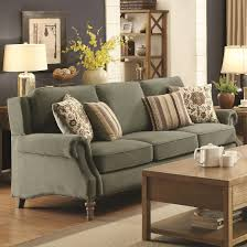 Sage Sofa coaster 505221 rosenberg light sage tone microvelvet upholstered sofa 8810 by guidejewelry.us