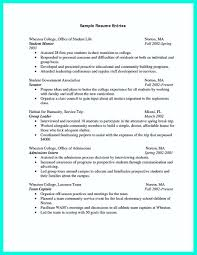 Resumes For College Graduates Recent College Graduate Resume Template Examples Samples For 20
