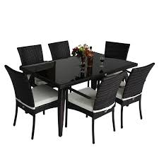 rattan garden furniture cover. Homcom Rattan Garden Furniture Aluminum Dining Set Patio Rectangular Table With 6Outdoor Chairs 7 Pieces Amazoncouk U0026 Outdoors Cover