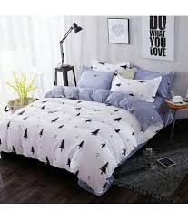 swastik double cotton white bedding set coordinated swastik double cotton white bedding set coordinated at low in india snapdeal com
