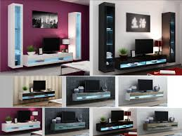 Image Stand High Gloss Living Room Furniture Tv Stand Wall Mounted Cabinet Led Lights Ebay High Gloss Living Room Furniture Tv Stand Wall Mounted Cabinet