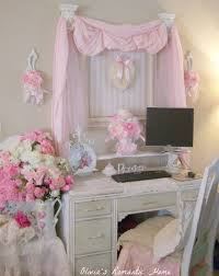 ... Lovely Image Gallery From Shabby Chic Girls Bedroom Ideas : Inspiring  White Classic Study Desk And ...