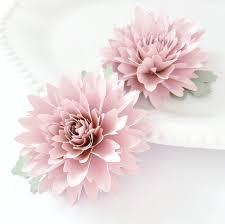 Flowers Templates Easy Paper Flower Tutorial Paper Flower Templates Cricut 3d Flowers Svg Pdf Small Flowers Party Decor Matilda Flower