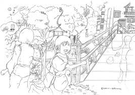 spirited away coloring pages. Fine Coloring Spirited Away Chase By El Transparente On Coloring Pages For A
