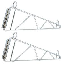 wire rack wall support brackets