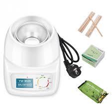 wax heater depilatory waxing kit 500ml warmer pot 250g bean 10 wooden spatulas 50 removal strip for hair