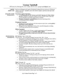 Resume For Logistics Specialist Free Resume Example And Writing
