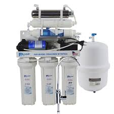 7 stage undersink reverse osmosis drinking water filtration system with alkaline remineralization filter and uv