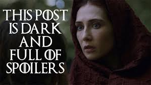 Image result for this post is dark and full of spoilers gif