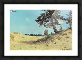 pine on sand picture frame printing