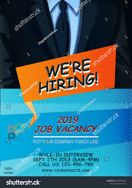 Job Hiring Poster Design We Hiring Poster Banner Design Job Stock Vector Royalty