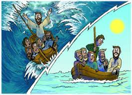 One day when jesus and his disciples were in a boat, there was a dangerous storm. Jesus Calms The Storm
