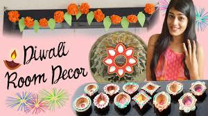 diy diwali room decor paper flowers floating kundan diyas