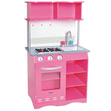 kenmore kids kitchen set. kenmore wooden kitchen set - faucet handles are pink for hot and blue cold kids e