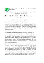 Hydrochemical characteristics of Runoff in Anata Catchment (PDF ...