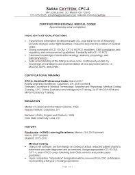 Combination Resume Sample Medical Coder C Susan Ireland Best Photo