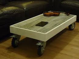 Colorful Pallet Coffee Table With WheelsPallet Coffee Table On Wheels