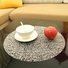 circle soft glass table cloth transpa pad dining mat tablecloth disposable waterproof overlay round mats