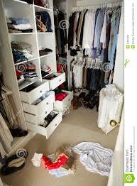 Messy Teenage Bedrooms Untidy Teenage Bedroom With Messy Wardrobe Stock Photo Image