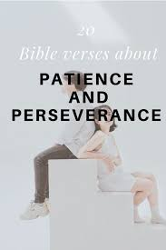 In james we read that, blessed is the one who perseveres under trial because, having stood the test, that person will receive the crown of life that the lord has promised to those who love him. (james 1:12). 20 Bible Verse About Patience And Perseverance