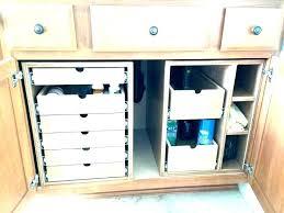 under kitchen sink storage drawers console kit
