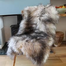 charming grey sheepskin rug in icelandic white top beut co uk