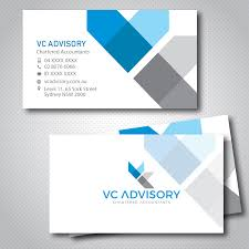 Vc Design Modern Professional Public Accounting Business Card Design
